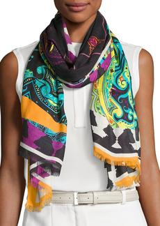 Etro Paisley Patchwork Scarf