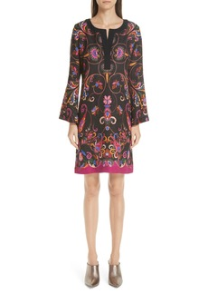 Etro Paisley Print Brocade Sheath Dress