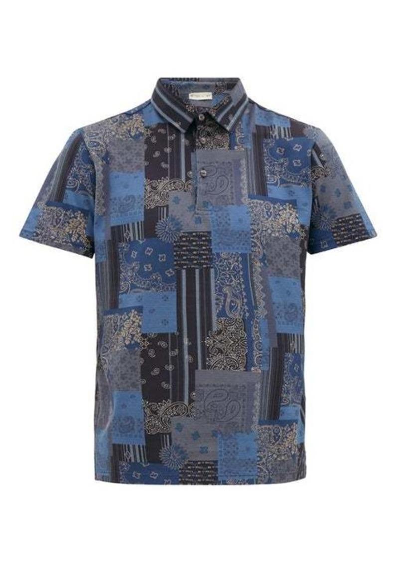 Etro Paisley-print cotton-piqué polo shirt