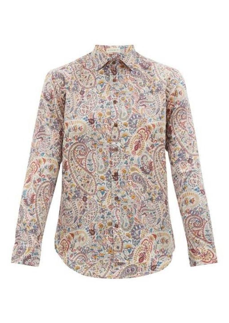 Etro Paisley-print cotton-poplin shirt