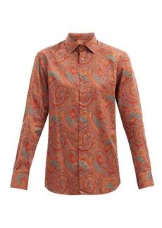 Etro Paisley-print cotton-sateen shirt