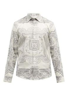 Etro Paisley-print cotton-twill shirt