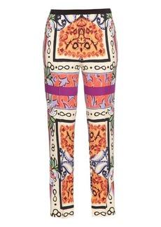 Etro Paisley-print crepe trousers