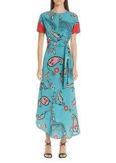 Etro Paisley Print Faux Wrap Dress