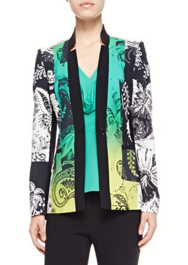 Etro Paisley-Print Jacket, Green/Black
