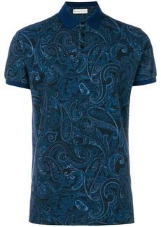 Etro paisley print polo shirt