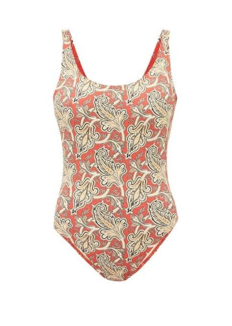 Etro Paisley-print scoop-neck swimsuit