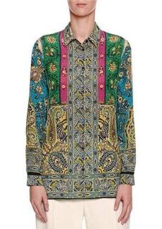 Etro Paisley-Print Silk Blouse