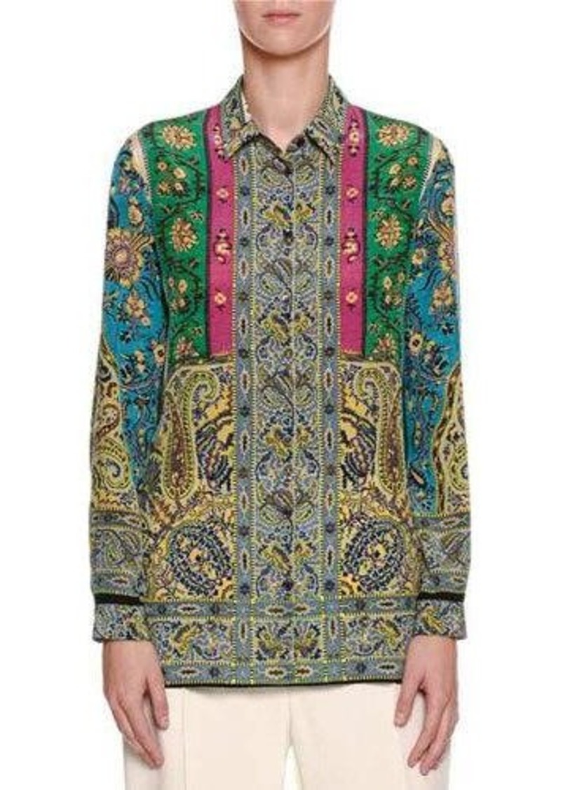 eb71b8cc4b0071 Etro Etro Paisley-Print Silk Blouse | Casual Shirts