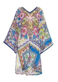 Etro Paisley-print silk-chiffon kaftan