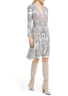 Etro Paisley Print Silk Faux Wrap Dress