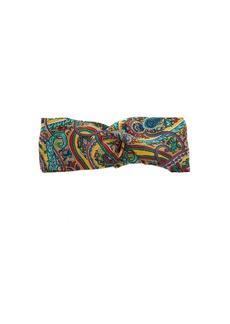 Etro Paisley-print silk headband