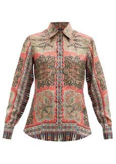 Etro Paisley-print silk-satin blouse