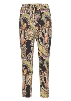 Etro Paisley-print silk trousers