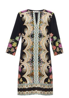 Etro Paisley-print silk tunic dress
