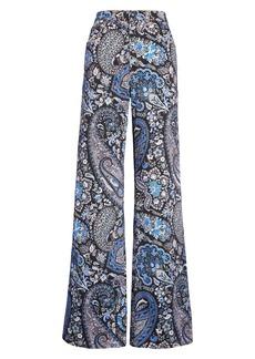 Etro Paisley Print Stretch Cotton Flare Jeans