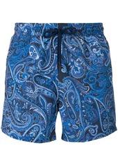 Etro paisley print swim shorts - Blue