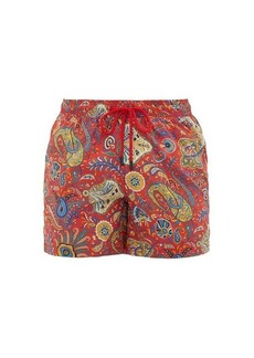 Etro Paisley-print technical-twill swim shorts