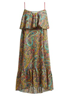 Etro Paisley-print tiered cotton dress