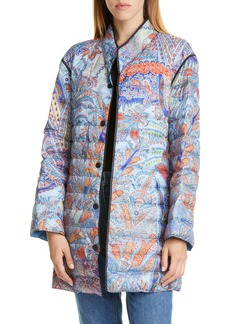Etro Paisley Print Water Resistant Down Puffer Jacket