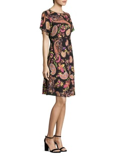 Etro Paisley-Print Wool Flared Dress