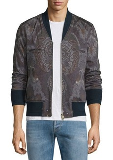 Etro Paisley-Print Zip-Up Bomber Jacket