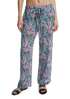 Etro Paisley Silk Beach Coverup Pants