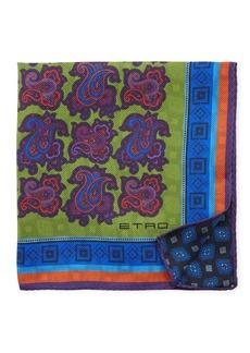 Etro Paisley Silk Pocket Square