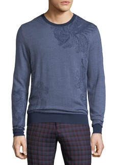 Etro Paisley-Stamped Wool Sweater