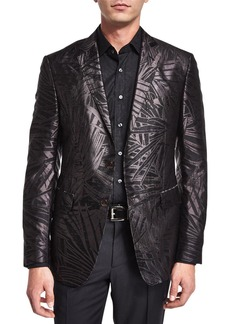 Etro Palm-Print Jacquard Silk Evening Jacket