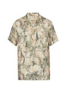 Etro Palm-print linen shirt