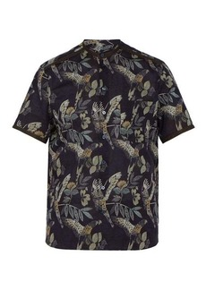 Etro Parrot-print cotton-blend shirt