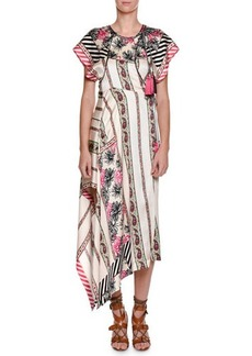 Etro Pepper Printed Asymmetric-Hem Dress