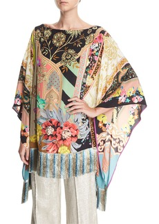 Etro Pillar Paisley Poncho Top