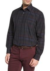 Etro Plaid Long-Sleeve Sport Shirt