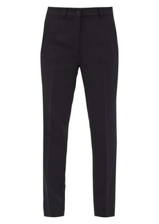 Etro Pleated cady straight-leg trousers