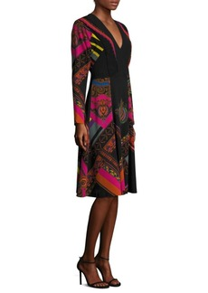 Etro Pleated V-Neck Dress