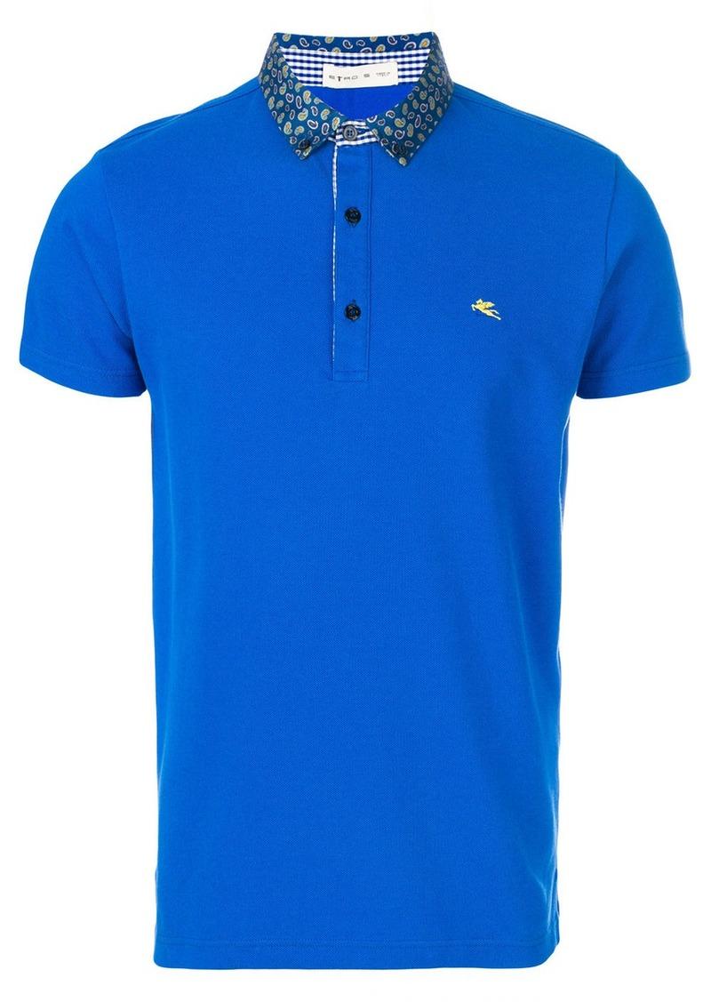 Etro paisley print collar polo shirt