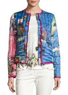 Etro Postcard-Print Quilted Jacket