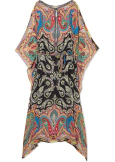 Etro Printed chiffon maxi dress