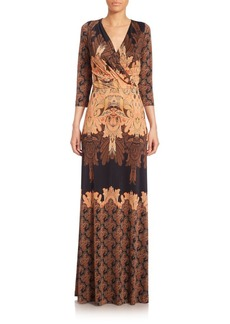 Etro Printed Jersey Maxidress