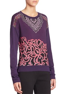 Etro Printed Jersey Sweater
