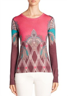 Etro Printed Silk & Cashmere Sweater