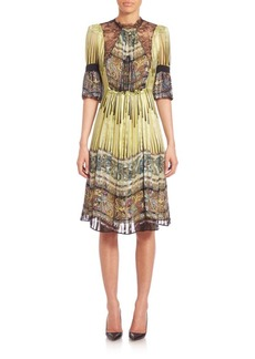 Etro Printed Silk & Lace Tunic Dress