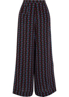 Etro Printed silk-chiffon wide-leg pants