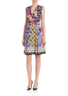 Etro Printed V-Neck Dress