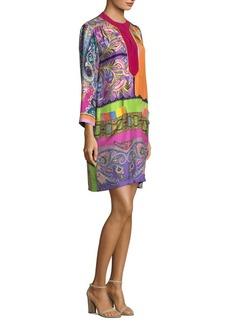 Etro Psychedelic Foulard Silk Dress