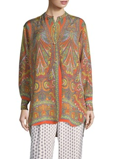 Etro Psychedelic Pearl Silk Tunic