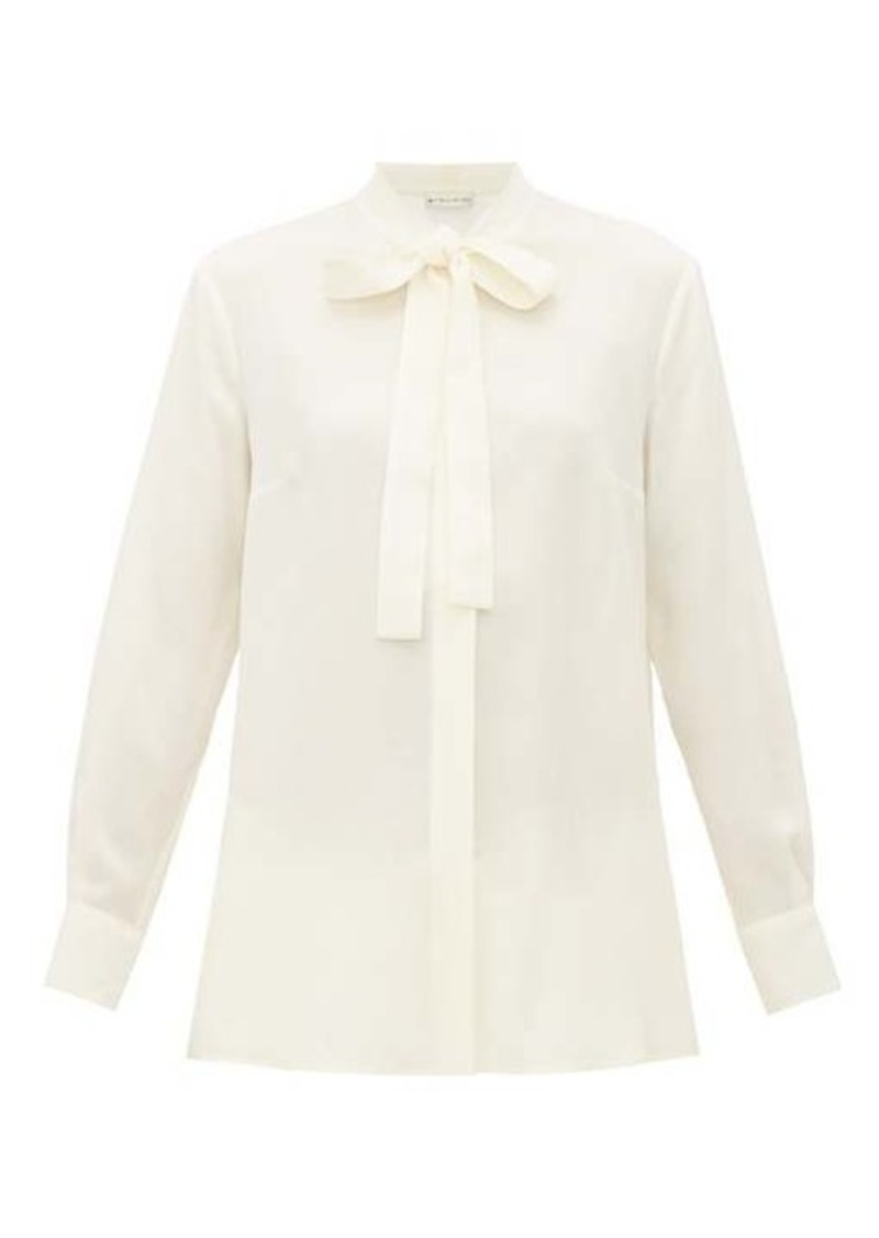 Etro Pussy-bow silk-georgette blouse