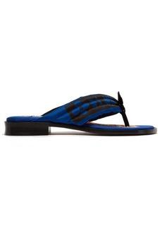 Etro Quilted satin flip-flops